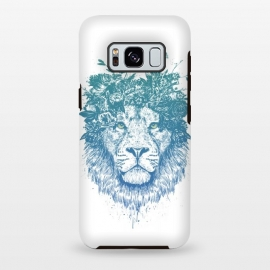 Galaxy S8+  Floral lion by Balazs Solti