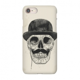 iPhone 8/7  Gentlemen never die by Balazs Solti (skull,gentleman,funny,moustache)