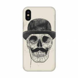 iPhone X  Gentlemen never die by Balazs Solti (skull,gentleman,funny,moustache)