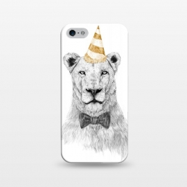 iPhone 5/5E/5s  Get the party started by Balazs Solti (lion,party hat,party,drawing)