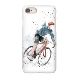 iPhone 8/7  I want to ride my bicycle by Balazs Solti (bicycle,bike,watercolor,painting,grunge)