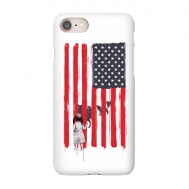 iPhone 8/7  Little girl and wolves by Balazs Solti (usa,flag,girl,animals,wolves)