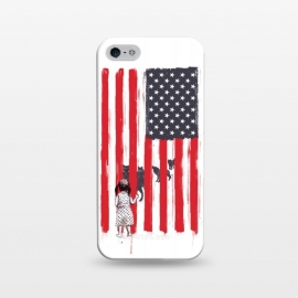 iPhone 5/5E/5s  Little girl and wolves by Balazs Solti (usa,flag,girl,animals,wolves)