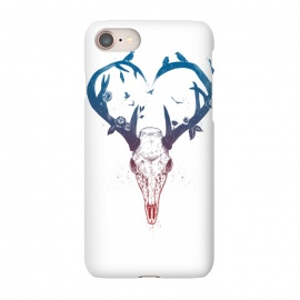iPhone 8/7  Neverending love by Balazs Solti (deer,heart,antlers)