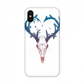 iPhone X  Neverending love by Balazs Solti (deer,heart,antlers)