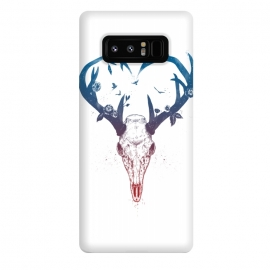 Galaxy Note 8  Neverending love by Balazs Solti (deer,heart,antlers)