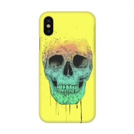 iPhone X  Pop art skull by Balazs Solti (grunge,drawing)