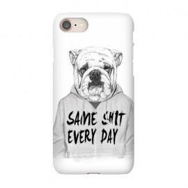 iPhone 8/7  Same shit... by Balazs Solti (bulldog,dog,drawing)