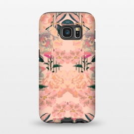 Galaxy S7  Symmetric Bloom by Zala Farah (abstract flowers,flower,flowers,floral,wallpaper,modern,trendy,boho,bohemian,botanic,garden,abstract,cute,pink,pink flowers,lush,exotic,spring,summer,floral collage,flower print,floral print,zala02creations)