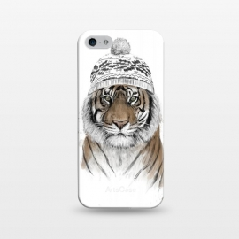 iPhone 5/5E/5s  Siberian tiger by Balazs Solti (tiger,winter,beanie)