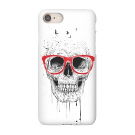 iPhone 8/7  Skull with red glasses by Balazs Solti (skull,grunge,drawing)