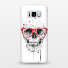Galaxy S8+  Skull with red glasses by Balazs Solti (skull,grunge,drawing)