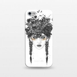 iPhone 5/5E/5s  Summer Queen by Balazs Solti (girl,summer,spring,drawing)