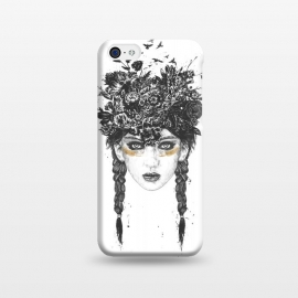 iPhone 5C  Summer Queen by Balazs Solti (girl,summer,spring,drawing)