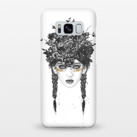 Galaxy S8+  Summer Queen by Balazs Solti (girl,summer,spring,drawing)