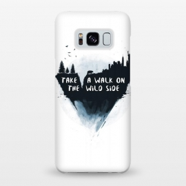 Galaxy S8+  Walk on the wild side by Balazs Solti (watercolor,painting,surreal,city)
