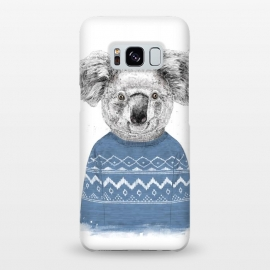 Galaxy S8+  Winter koala by Balazs Solti (koala,drawing,winter)