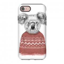 iPhone 8/7  Winter koala (red) by Balazs Solti (koala,bear,winter,drawing)