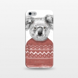 iPhone 5/5E/5s  Winter koala (red) by Balazs Solti