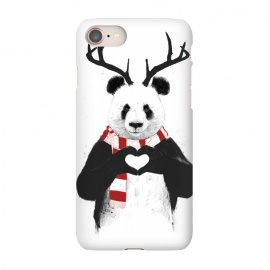 iPhone 8/7  Xmas panda by Balazs Solti (panda,xmas,christmas,winter,rudolp,antlers,deer)