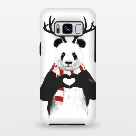 Galaxy S8 plus  Xmas panda by  (panda,xmas,christmas,winter,rudolp,antlers,deer)