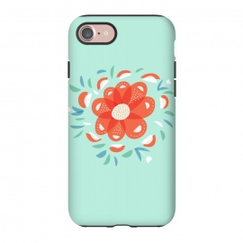 iPhone 8/7  Whimsical Decorative Red Flower by Boriana Giormova