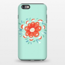 iPhone 6/6s plus  Whimsical Decorative Red Flower by Boriana Giormova