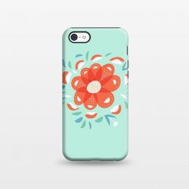 iPhone 5C  Whimsical Decorative Red Flower by Boriana Giormova