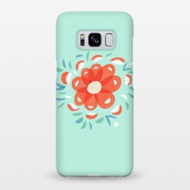 Galaxy S8+  Whimsical Decorative Red Flower by Boriana Giormova