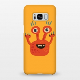 Galaxy S8+  Funny Big Eyed Smiling Cute Monster by Boriana Giormova