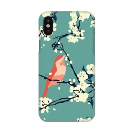 iPhone X  Bird and Blossom by Zoe Charlotte