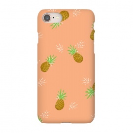 iPhone 8/7  Pineapples in Guava by Zoe Charlotte