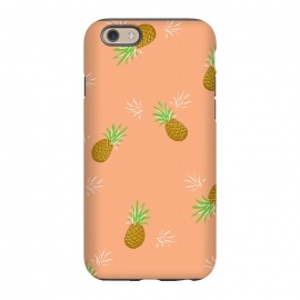 iPhone 6/6s  Pineapples in Guava by Zoe Charlotte
