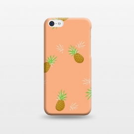 iPhone 5C  Pineapples in Guava by Zoe Charlotte