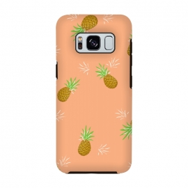 Pineapples in Guava by Zoe Charlotte (pineapple,pineapples,guava,pink,coral,juicy,fruit,fruity,pattern,nature,summer)
