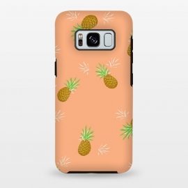 Galaxy S8 plus  Pineapples in Guava by  (pineapple,pineapples,guava,pink,coral,juicy,fruit,fruity,pattern,nature,summer)
