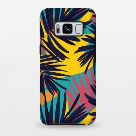 Galaxy S8+  Tropical Jungle by Zoe Charlotte (fern,ferns,tropical,abstract,jazzy,pattern,bold,colourful,jungle,forest,aqua,turquoise)