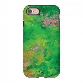 iPhone 8/7  Impressionist Meadow by Zoe Charlotte (meadow,field,field of flowers,floral ,impressionist,impressionistic,monet,artwork,original artwork,hand painted,paint,painting,abstract painting,wildflowers)