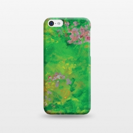iPhone 5C  Impressionist Meadow by Zoe Charlotte (meadow,field,field of flowers,floral ,impressionist,impressionistic,monet,artwork,original artwork,hand painted,paint,painting,abstract painting,wildflowers)