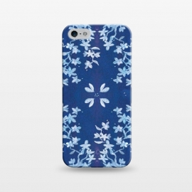 iPhone 5/5E/5s  Indigo Floral by Zoe Charlotte