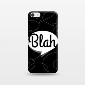 Blah, blah, blah! (B&W version) by Dellán (Typography design,blah,text,black and white design,hipster,minimalist)