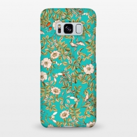 Galaxy S8+  Teal Botanical by Uma Prabhakar Gokhale