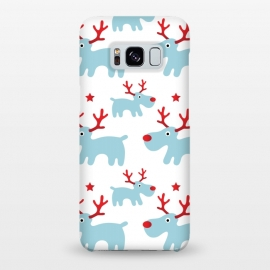 Galaxy S8+  Cute Reindeers by Martina (cute,sweet,animals,reindeer,xmas,christmas,festive,pattern,seasonal,nature,for her,unisex,for kid)