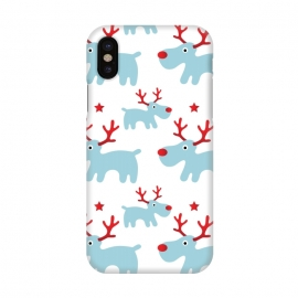 iPhone X  Cute Reindeers by Martina (cute,sweet,animals,reindeer,xmas,christmas,festive,pattern,seasonal,nature,for her,unisex,for kid)