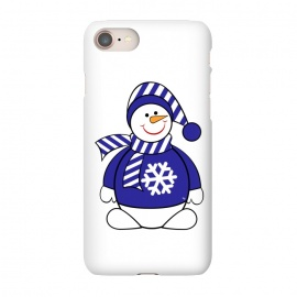 iPhone 8/7  Cute snowman by Martina (cute,sweet,winter,seasonal,festive,xmas,christmas,snow,snowman,carrot,nose,snow flake,jumper,nature,cold)
