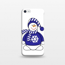 iPhone 5C  Cute snowman by Martina (cute,sweet,winter,seasonal,festive,xmas,christmas,snow,snowman,carrot,nose,snow flake,jumper,nature,cold)