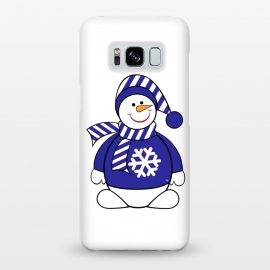 Galaxy S8+  Cute snowman by Martina (cute,sweet,winter,seasonal,festive,xmas,christmas,snow,snowman,carrot,nose,snow flake,jumper,nature,cold)