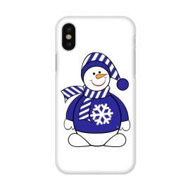 iPhone X  Cute snowman by Martina (cute,sweet,winter,seasonal,festive,xmas,christmas,snow,snowman,carrot,nose,snow flake,jumper,nature,cold)