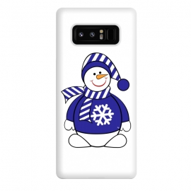 Galaxy Note 8  Cute snowman by Martina (cute,sweet,winter,seasonal,festive,xmas,christmas,snow,snowman,carrot,nose,snow flake,jumper,nature,cold)