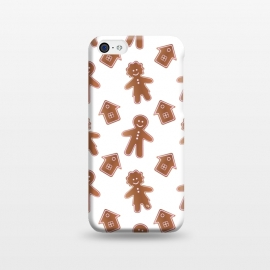 iPhone 5C  Gingerbread people by Martina (cute,sweet,foot,unisex,xmas,christmas,winter,festive,seasonal,yummy,ginger,gingerbread,gingerbread man,people,pattern)